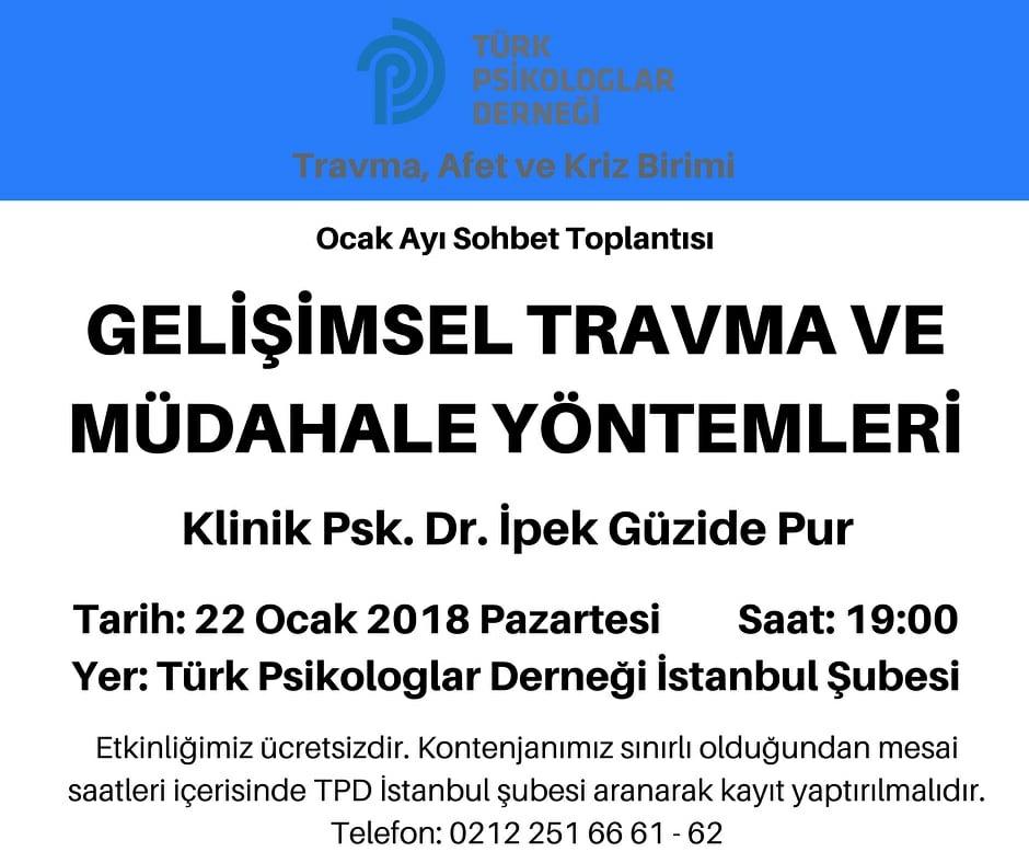 Türk Psikologlar Derneği'nde Sohbet